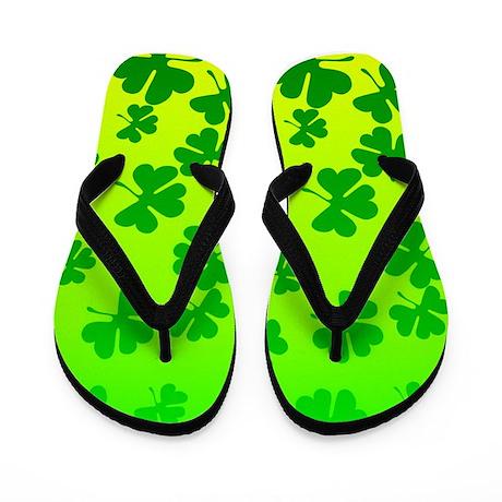 St. Patrick's Day Shamrock Flip Flops