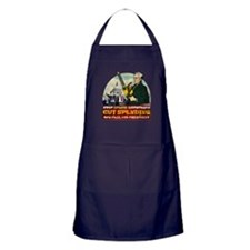 Ron Paul vs Zombie Washington Apron (dark)