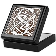 Celtic Letter S Keepsake Box