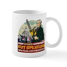 Ron Paul vs Zombie Washington Mug