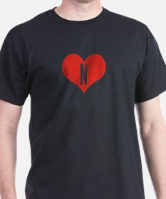 Heart N letter - Love T-Shirt