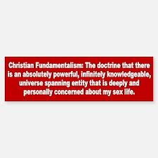 fundamentalism... Bumper Bumper Bumper Sticker