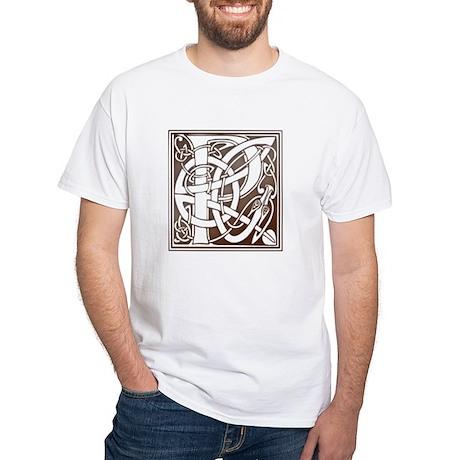 Celtic Letter P White T-Shirt
