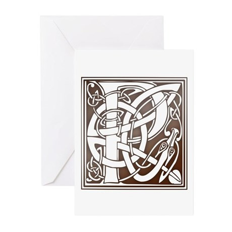Celtic Letter P Greeting Cards (Pk of 10)