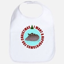Hippo for Christmas Bib