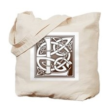 Celtic Letter L Tote Bag