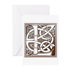 Celtic Letter L Greeting Cards (Pk of 10)