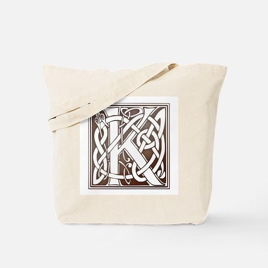 Celtic Letter K Tote Bag