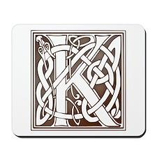 Celtic Letter K Mousepad