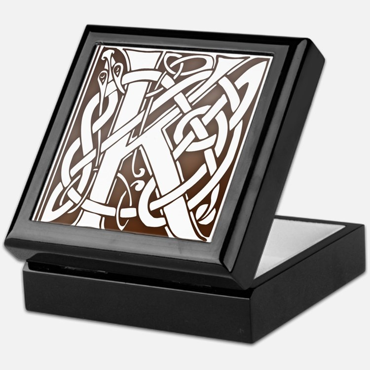 Celtic Letter K Keepsake Box