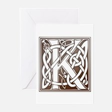 Celtic Letter K Greeting Cards (Pk of 10)