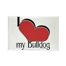 I Love my Bulldog Rectangle Magnet