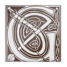 Celtic Letter G Tile Coaster
