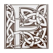 Celtic Letter F Tile Coaster