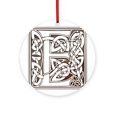 Celtic Letter E Ornament (Round)