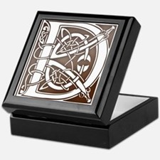 Celtic Letter D Keepsake Box