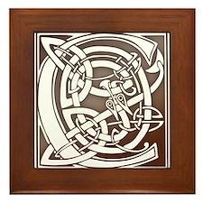 Celtic Letter C Framed Tile