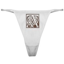 Celtic Letter A Classic Thong