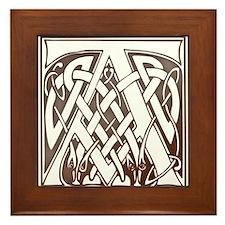 Celtic Letter A Framed Tile