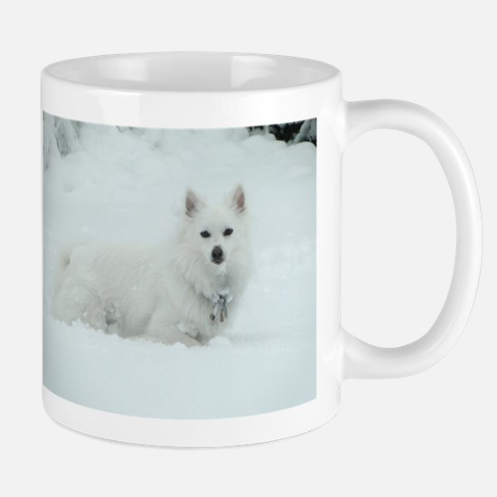 American Eskimo Dog Snow Day Mug