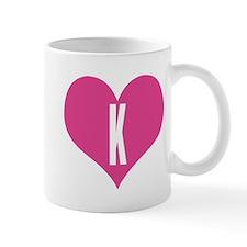 Heart K letter - Love Mug