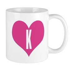 K Letter With Heart Images Heart K letter - Love Coffee Mug