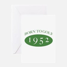 1952 Born To Golf Greeting Card