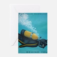 Vintage Scuba Diver Greeting Card