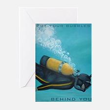 Vintage Scuba Diver Greeting Cards (Pk of 10)
