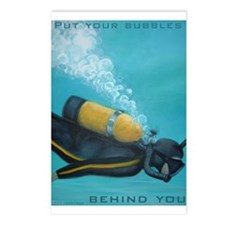 Vintage Scuba Diver Postcards (Package of 8)