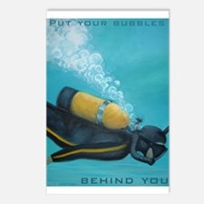 Vintage Scuba Diver Postcards (Package of 8)