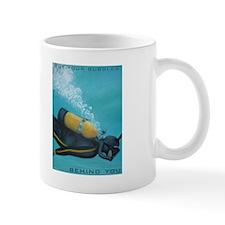 Vintage Scuba Diver Mug