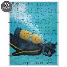 Vintage Scuba Diver Puzzle