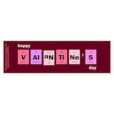 Geek Happy Valentine's Day Bumper Sticker