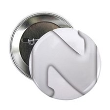 White Letter N Button