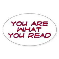 You are what you read Oval Decal