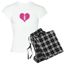 Heart H letter - Love Pajamas