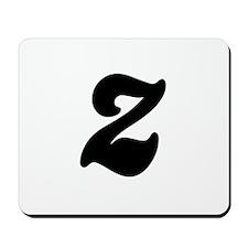 Fun Funky letter Z Mousepad
