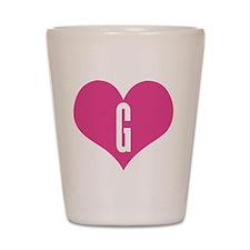 Heart G letter - Love Shot Glass