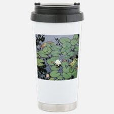 White Water Lily & Lily Pads Travel Mug