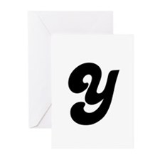 Fun Funky letter Y Greeting Cards (Pk of 10)