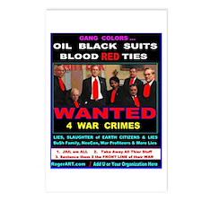 Bu$h Gang WAR CRIMES Postcards (Package of 8)