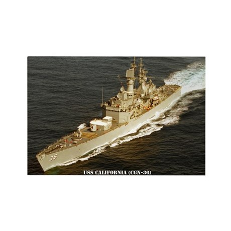 USS CALIFORNIA Rectangle Magnet