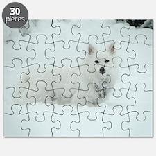American Eskimo Dog Snow Day Puzzle