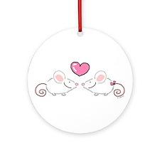 Two Love Mice Ornament (Round)