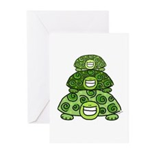 Three Turtles Greeting Cards (Pk of 10)
