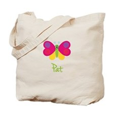 Pat The Butterfly Tote Bag