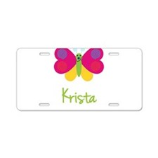 Krista The Butterfly Aluminum License Plate