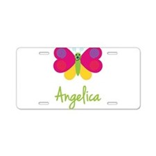 Angelica The Butterfly Aluminum License Plate