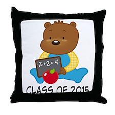 Class of 2015 Teddy Bear Throw Pillow